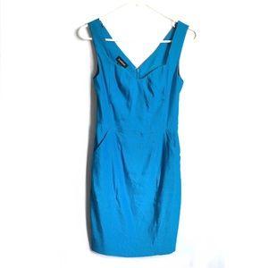 [BEBE] BODYCON SWEETHEART NECK BLUE DRESS SIZE S